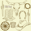 Wild West Western Set — Stock Photo #7559872