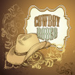Cowboy hat design - Foto Stock