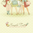 Stock Photo: Shopping girls