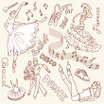 Dance doodles — Stock Photo
