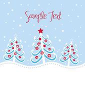 Christmas tree background, vector illustration — Stock Photo