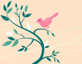 Cute bird on a tree branch. — Stock Photo