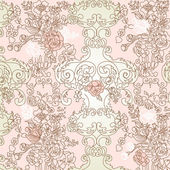 Vintage floral background. Vector illustration. — Stock Photo