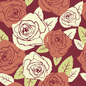 Valentine seamless pattern with rose design — Stok fotoğraf