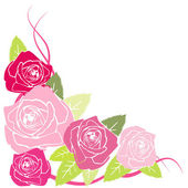Vector stylized red roses — Stock Photo