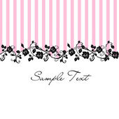 Seamless Floral Rose pattern with pink stripes — Stock Photo