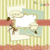 Cute scrapbook elements — Stock Photo