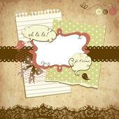 Cute scrapbook elements — Stock Photo