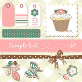 Cute scrap-booking elements — Stock Photo
