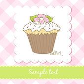 Cupcake birthday card — Stock Photo
