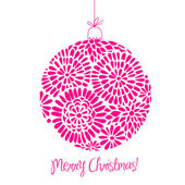 Pink Christmas ball illustration. — Stock Photo
