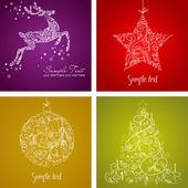 рождественский набор — Стоковое фото