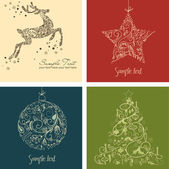 Weihnachten set — Stockfoto