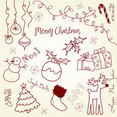 Cute Christmas and doodles — Stock Photo