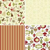 Conjunto de padrões de natal — Foto Stock
