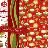Set of Retro Christmas patterns — ストック写真