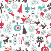 Christmas seamless pattern — 图库照片