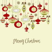Retro Christmas Ornamets. — Stock Photo