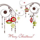 Retro weihnachtsschmuck — Stockfoto