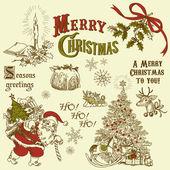 Vintage Christmas doodles — Stock Photo