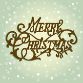 Vintage Christmas Card. Merry Christmas lettering — Stock Photo