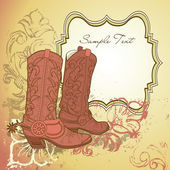 Old Cowboy boots — Stock Photo