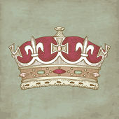 Vintage Crown — Foto Stock