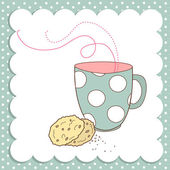 Nice Cup of Tea and a biscuits — Stock Photo