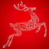 Christmas deer, vector illustration — Stock Photo