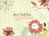 Flower card design — Stock Photo