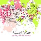 Stylish floral background — Stock Photo