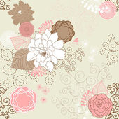 Vector Flower (Seamless Pattern) — Stock Photo