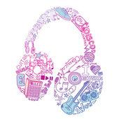 Musica doodles — Foto Stock