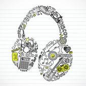 音乐涂鸦 — 图库照片