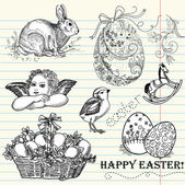 Doodle Easter Set — Stock Photo