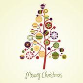 Beautiful Christmas tree illustration. Christmas Card — Stock Photo