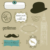 Keep calm and carry on. Doodle frames in British style — Stockfoto