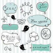Speech bubbles set in French style — Stock Photo