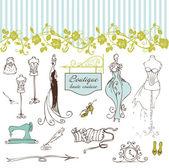 Boutique haute couture e costura — Foto Stock