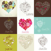 Greeting cards with heart — Stock Photo