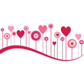 Cute vector valentine background — Stockfoto