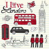 Doodle londyn — Zdjęcie stockowe