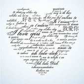 Say I love you in many languages — Stock Photo