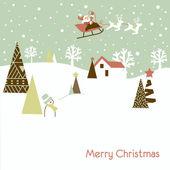 Retro Christmas Card — Stock Photo