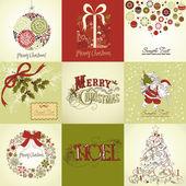 Uppsättning av julkort — Stockfoto