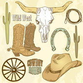 Wild West Western Set — Stockfoto