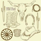 Wild West Western Set — Stock Photo
