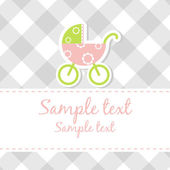 Baby boy arrival announcement card — Stock Photo