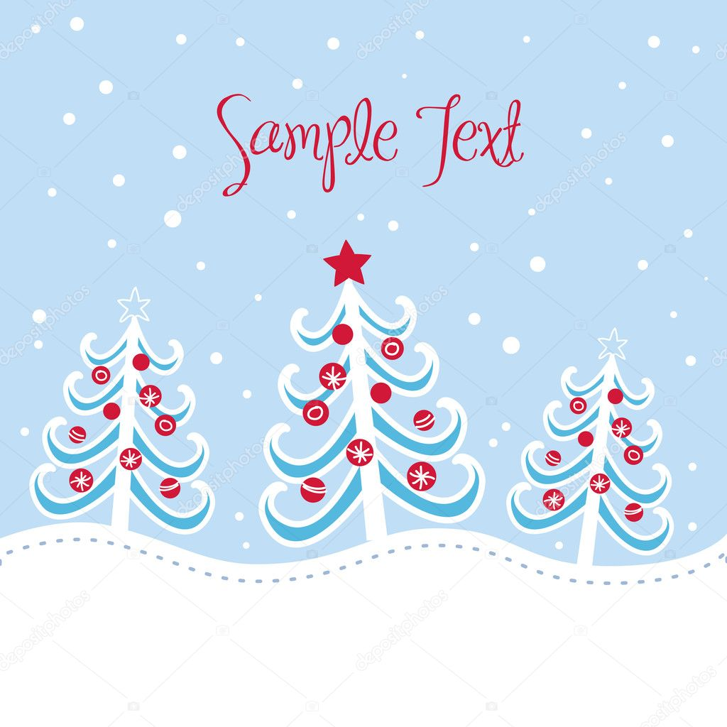 Christmas tree background, vector illustration — Stock Photo #7550010