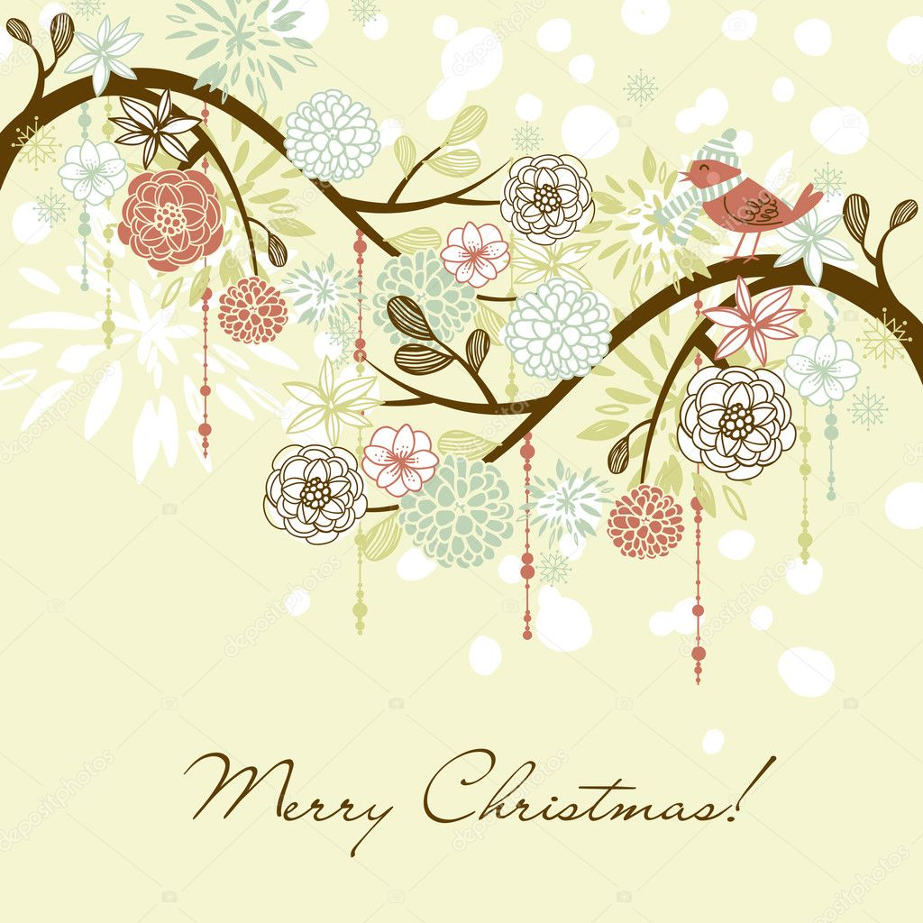 Floral Winter background. — Stock Photo #7550746